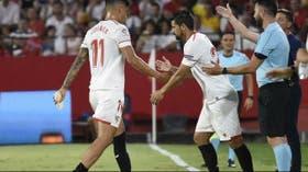 Joaquín Correa salió por una sobrecarga muscular
