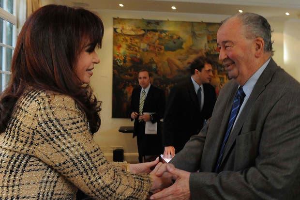 La Presidenta y Grondona, en 2010