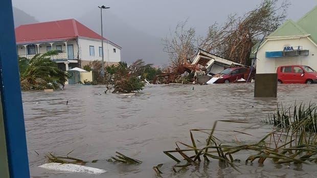 Inundaciones generadas por Irma en la isla de San Martín