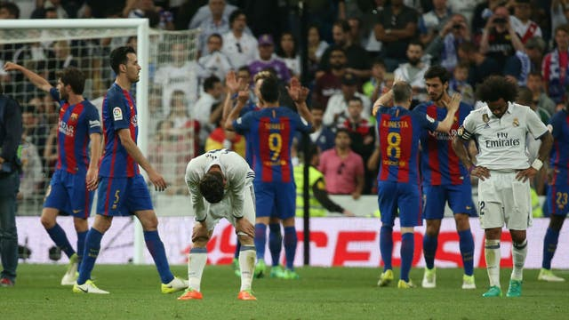 La tristeza del Madrid y, de fondo, el festejo catalán