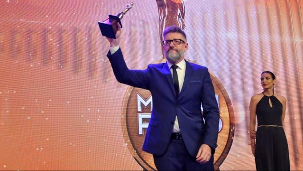 Luis Novaresio, ganador de la distinción principal de la noche