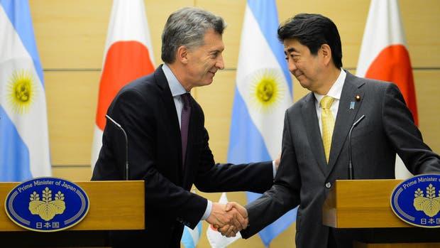 El presidente Mauricio Macri y el primer ministro japonés, Shinzo Abe, se reunieron hoy en Tokio