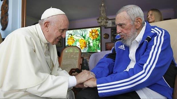 El papa Francisco y Fidel Castro, durante en el último encuentro, en septiembre de 2015