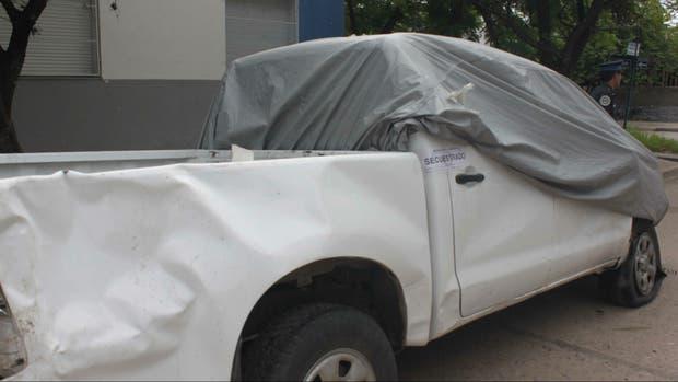 La camioneta oficial que habría usado Pedro Ramón Bareiro para transportar los 51 kilos de cocaína