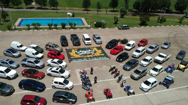Algunos de los vehículos incautados en los allanamientos realizados por Gendarmería