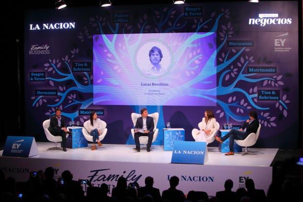 Ricky y Sofía Sarkany, José Del Rio, Andrea Frigerio y Lucas Bocchino