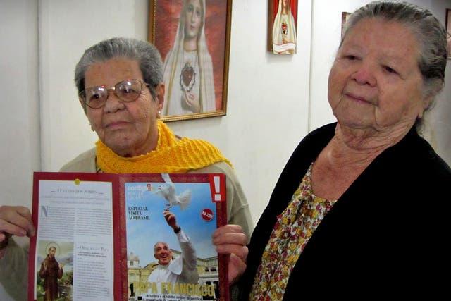 Amara y Jovania Marinho recibirán hoy al Papa en su casa.