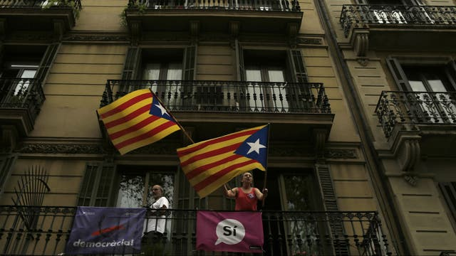 Las manifestaciones pro independencia se multiplicaron en el centro de Barcelona