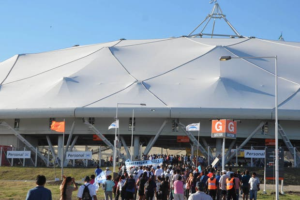Inaugurado el 7 de junio de 2003, el estadio de La Plata es el más moderno de Latinoamérica.  Foto:DyN