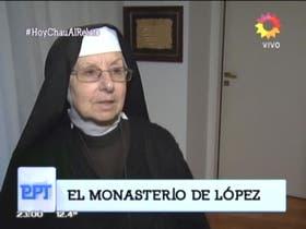 Inés, una de las monjas del monasterio donde detuvieron a José López