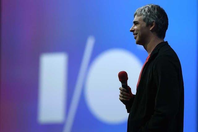 Larry Page, uno de los fundador de Google, conversó con el público al final, algo bastante inusual