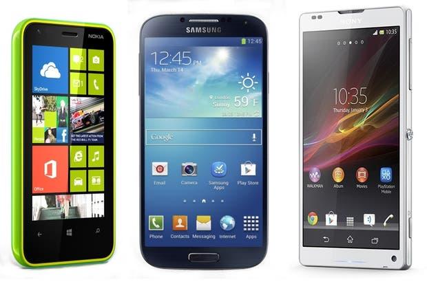 Nokia Lumia 620, Samsung Galaxy S4, Sony Xperia ZL