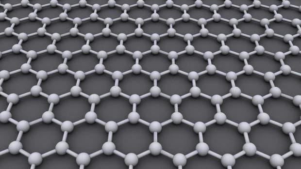 El grafeno es un material hecho de una única capa de átomos de carbono, que forman una malla de estructura hexagonal