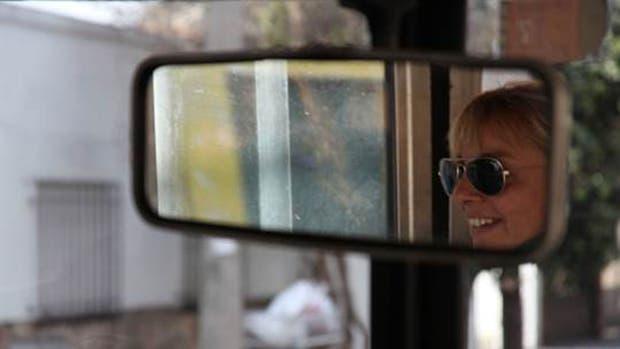 Susana es una de las 28 mujeres choferes que trabajan en Transporte Bicentenario, que funciona exclusivamente en Vicente López.
