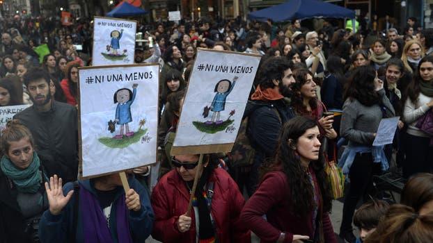 Ni una menos. Marcha contra la violencia de género desde el Congreso Nacional a Plaza de Mayo. Foto: DyN / Rodolfo Pezzoni