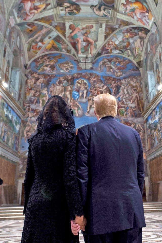 Donald y Melania Trump visitaron la Capilla Sixtina