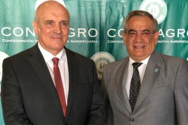 José Luis Espert y el presidente de Coninagro, Carlos Iannizzotto