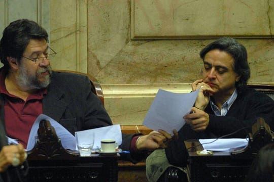 Lozano y Macaluse, a favor de la ley. Foto: DyN