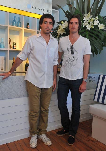 Dos amigos: Nacho Viale e Iván de Pineda.