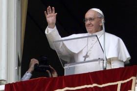 El papa Francisco durante el ángelus del domingo
