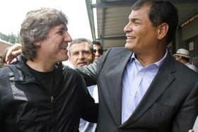 Boudou junto a Correa en su visita a Ecuador