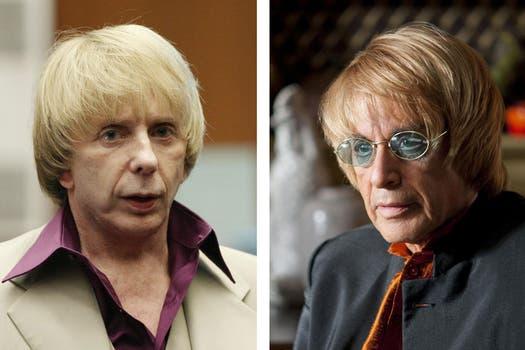 Algo así, es que se presentó el film sobre el productor musical Phil Spector, que se verá en HBO; parecidos, ¿no?. Foto: Reuters