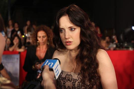 La actriz Andrea Riserborough, quien le da vida a Vika en el film. Foto: LA NACION / Matias Aimar