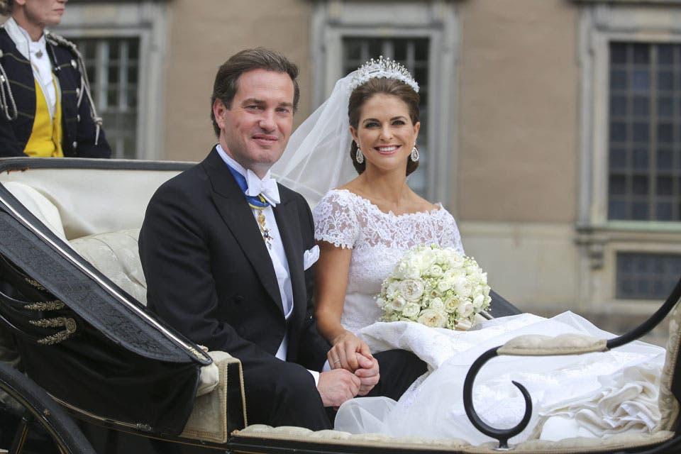 Magdalena se unió a Chris O Neill en una ceremonia romántica y rodeada del lujo real. Foto: /AP