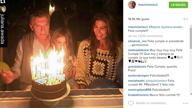 En familia, Mauricio Macri festeja sus 57 años Instagram Mauricio Macri