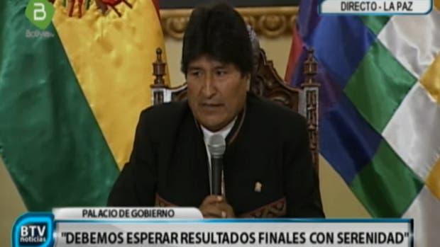 Evo Morales, en una conferencia de prensa tras el referéndum del domingo