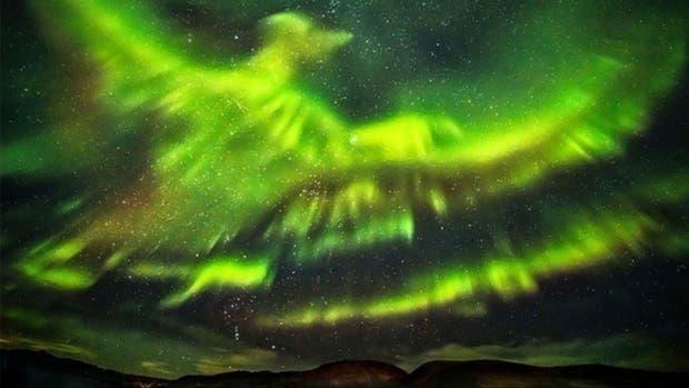 La fotografía captada cerca del Polo Norte