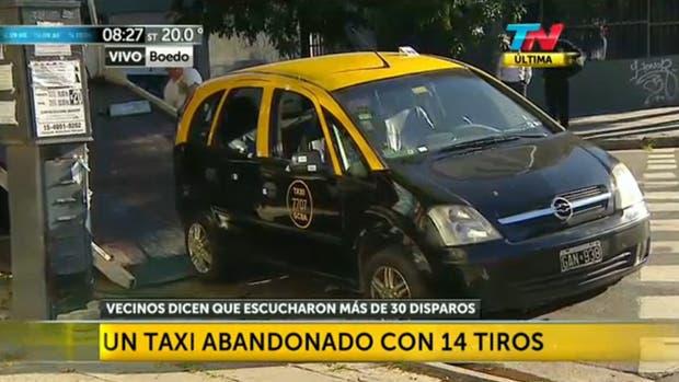 Balearon un taxi en Almagro: le dispararon más de 30 tiros