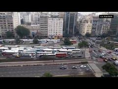 Congestión en la 9 de Julio por reclamos gremiales