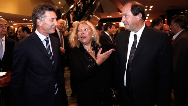 Macri, Carrió y Sanz