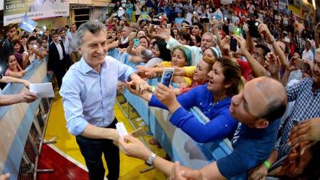 Macri durante el acto de campaña en Posadas
