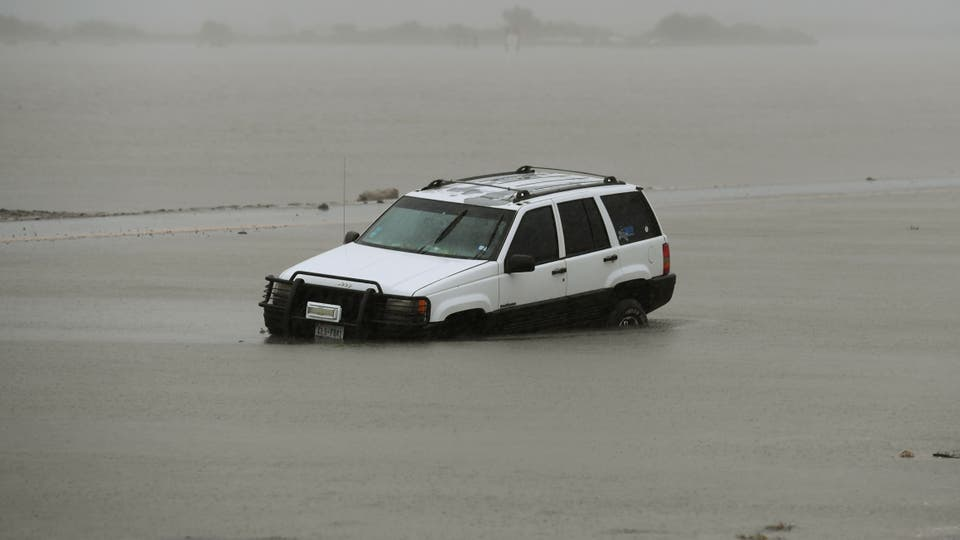 En fotos: el paso del huracán Harvey por la costa de Texas. Foto: AFP / MARK RALSTON