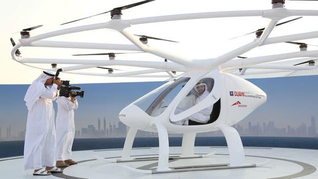 El drone volador desarrollado por la firma alemana Volocopter