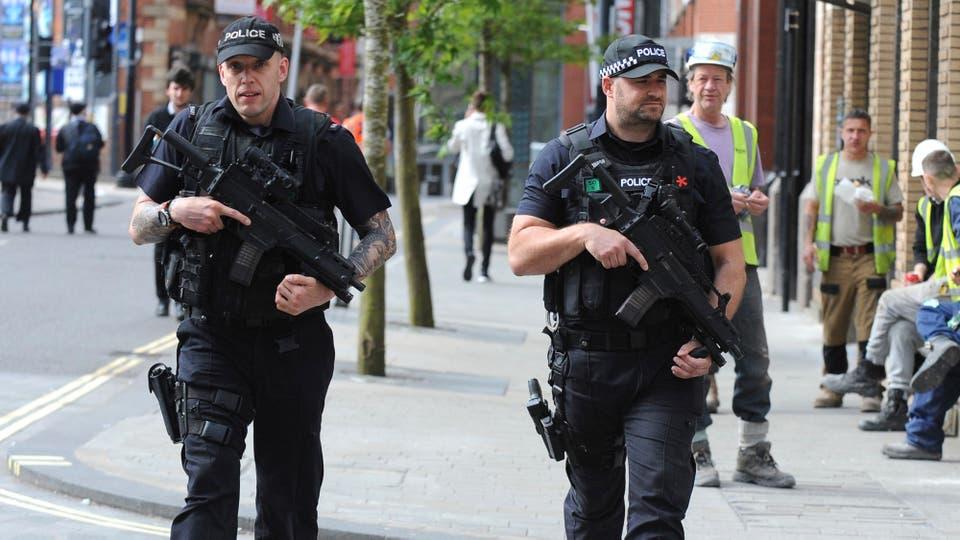 Las calles de Manchester están fuertemente custodiadas. Foto: AP / Rui Vieira