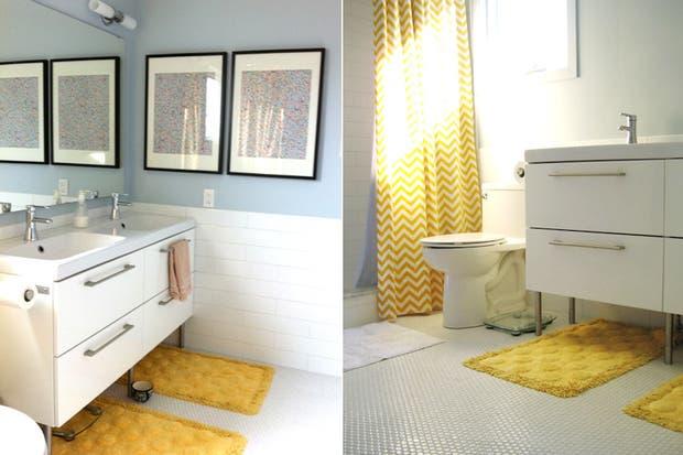 Accesorios Baño Amarillo:En los accesorios también vale Si no te animás a aplicar el color