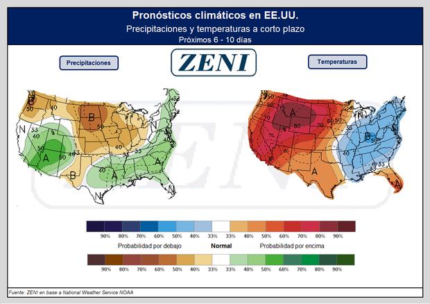 El clima para los próximos días en EE.UU.