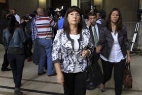Susana Trimarco, ayer, en la primera jornada del proceso que comenzó ayer y finalizó hoy