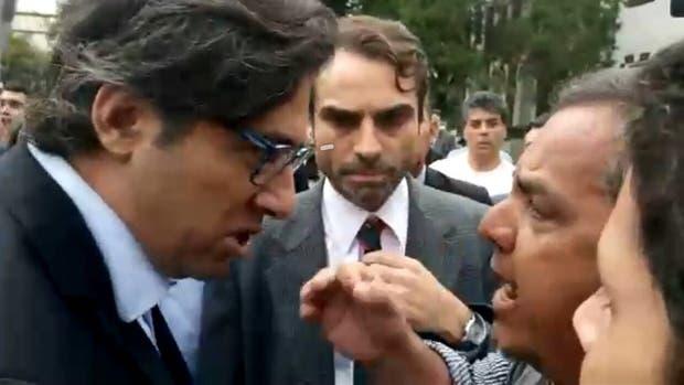 Un grupo de manifestantes de ATE interrumpieron un acto de ministro Garavano en la ex ESMA