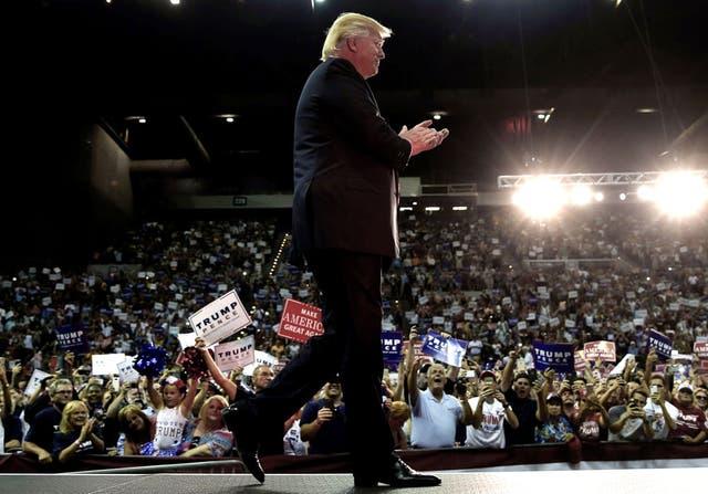 Trump, durante la campaña