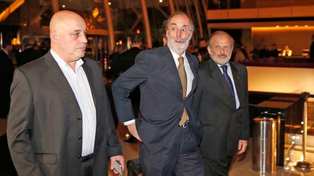 Pablo Tonelli al llegar a la cena. Foto: LA NACION / Fabián Marelli