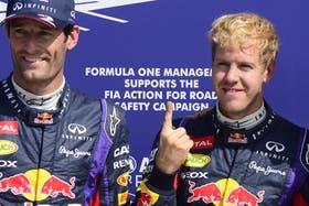 Vettel, el número uno, junto a Webber