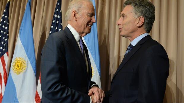 Biden y Macri se reunieron en Davos