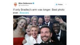 El selfie de los Oscar 2014 que obtuvo el primer récord de ser el más retuiteado.