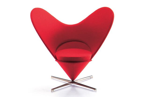 Heart-shaped Cone Chair, Panton..