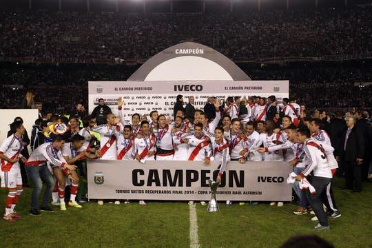 Los festejos de River campeón. Foto: LA NACION / Emiliano Lasalvia