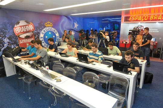 El centro de prensa, que podrían utilizar los periodistas argentinos.